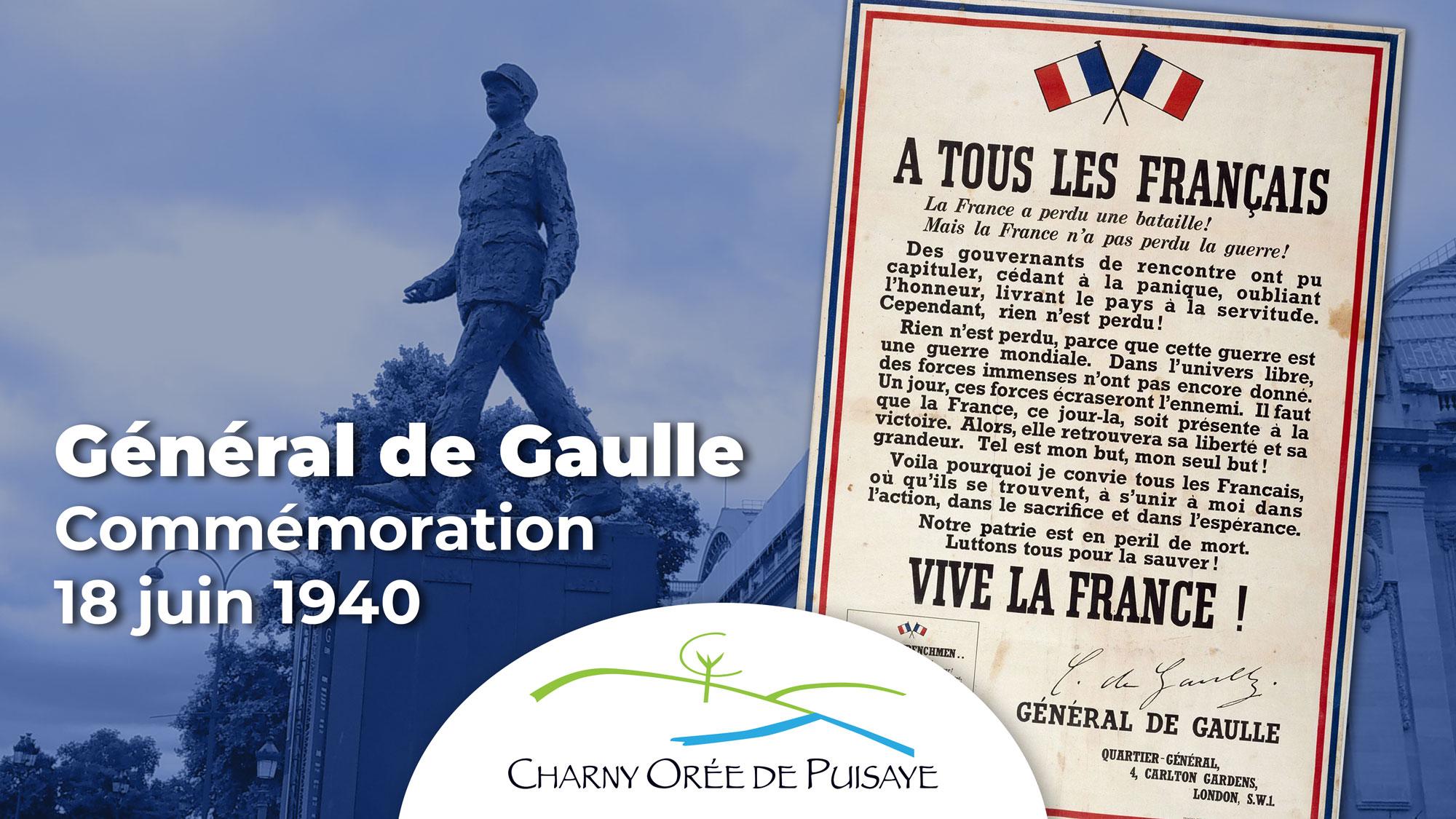 Appel du 18 juin 1940 Général de Gaulle CCOP