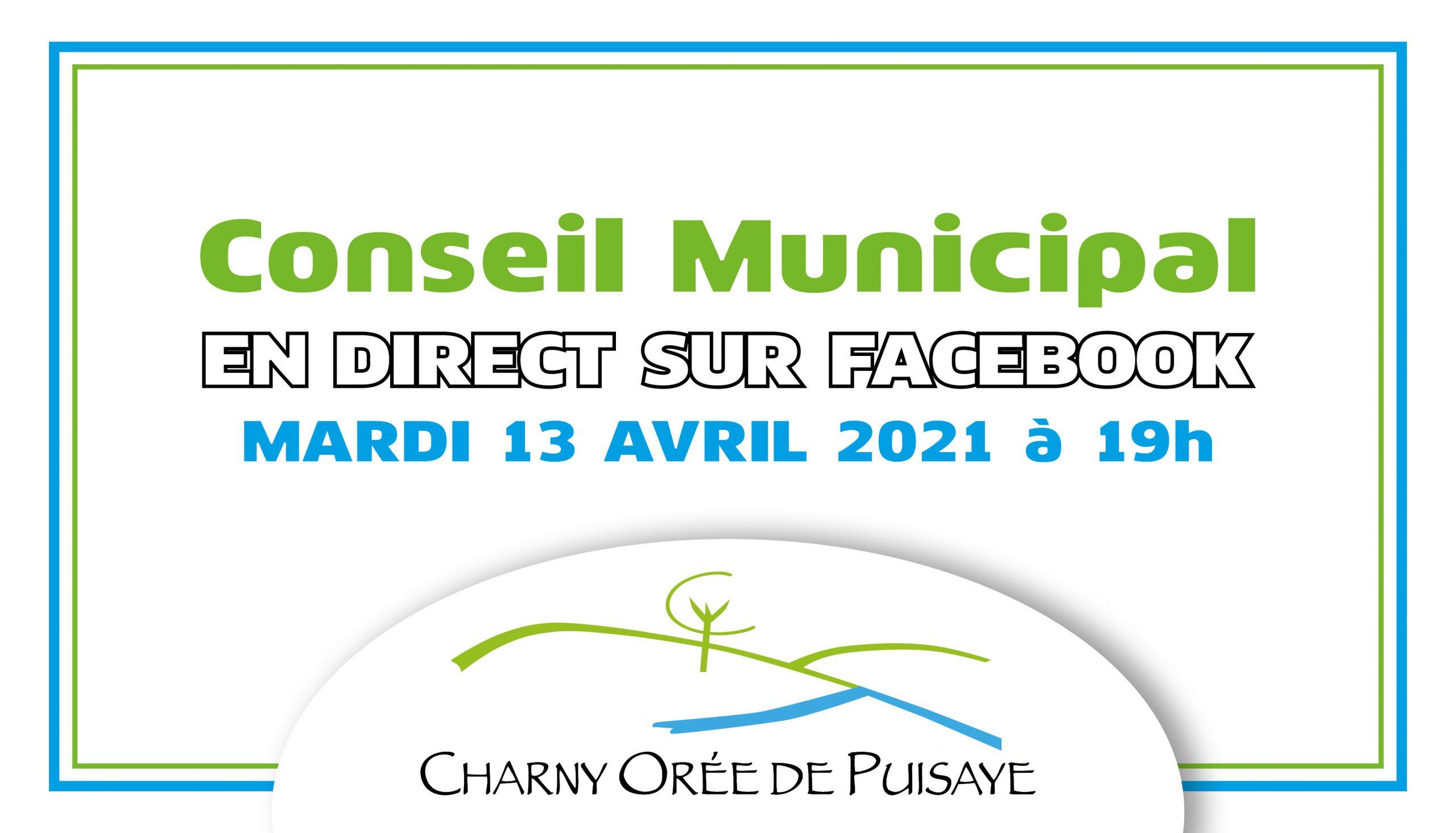Facebook live du conseil municipal du 13 avril 2021 à 19h