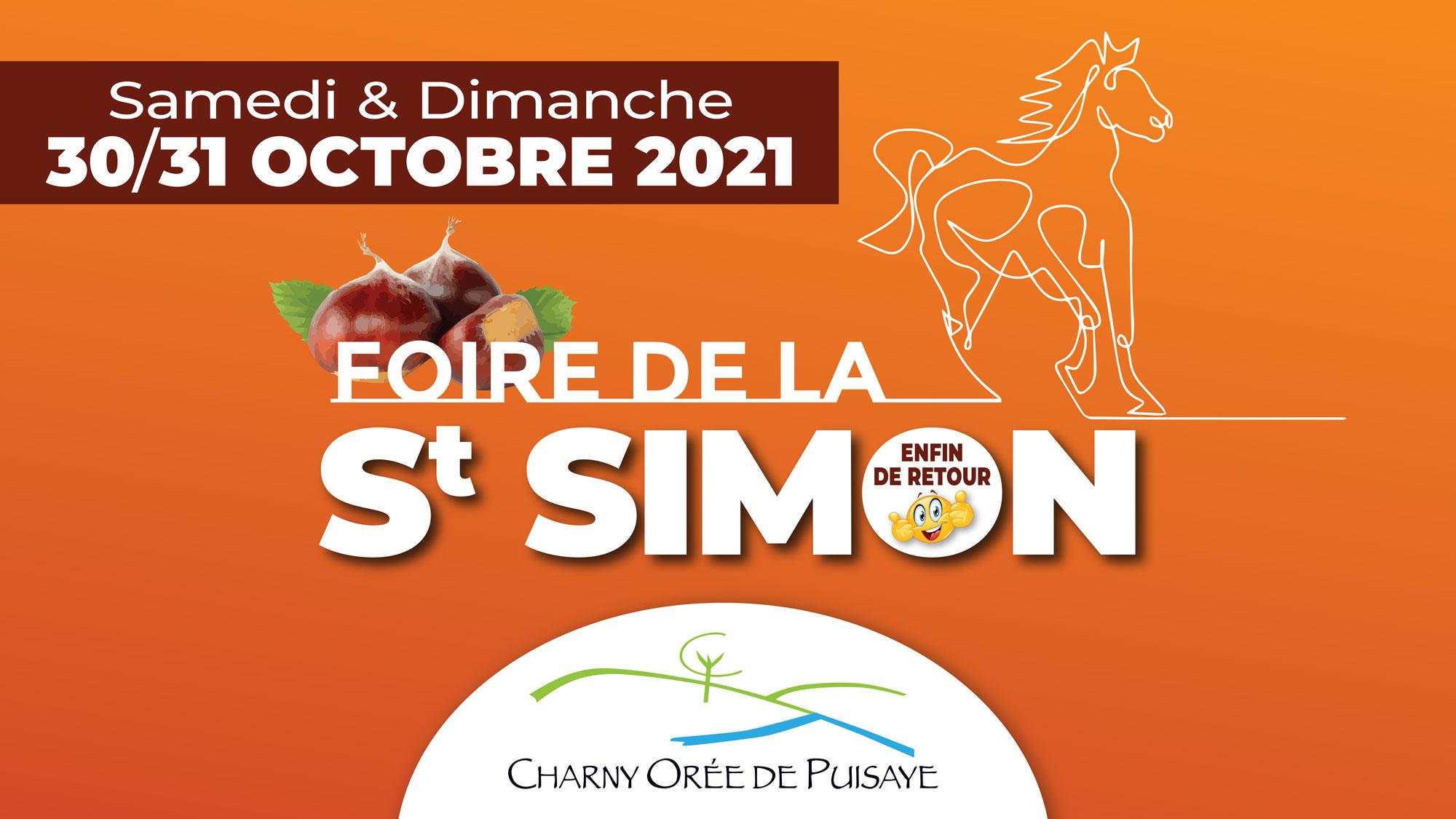 Foire de la St Simon 2021 à Charny Orée de Puisaye